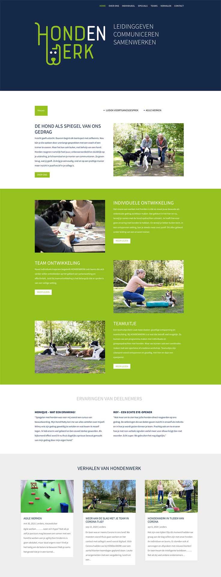 Hondenwerk-website
